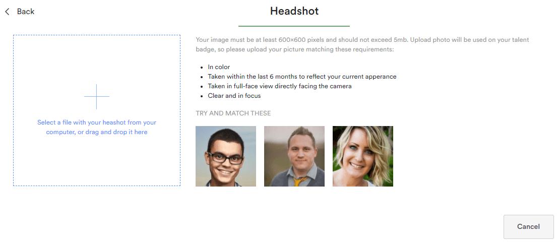 Add headshot